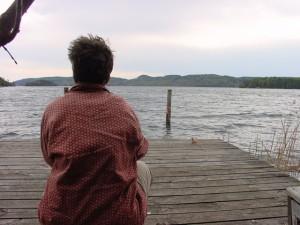 Schweden im Mai 2003: Blick auf den See